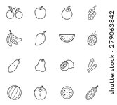 set of  fruit thin line icon... | Shutterstock .eps vector #279063842