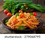 penne pasta in tomato sauce... | Shutterstock . vector #279068795