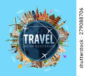 travel  journey vector logo... | Shutterstock .eps vector #279088706