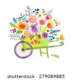 Gardening. Wheelbarrow With...