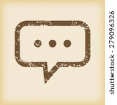 grungy brown icon with text...
