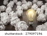 great concept with crumpled... | Shutterstock . vector #279097196