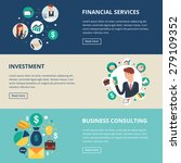 business banners  financial...   Shutterstock .eps vector #279109352