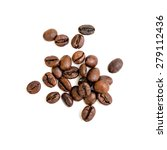 coffee beans isolated on white... | Shutterstock . vector #279112436
