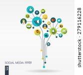 abstract social media... | Shutterstock .eps vector #279116228