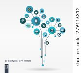 abstract technology background... | Shutterstock .eps vector #279116312