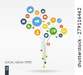 abstract social media... | Shutterstock .eps vector #279116462
