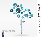abstract medicine background... | Shutterstock .eps vector #279116492