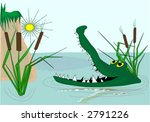 Crocodile On The River