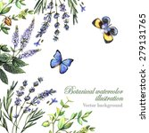 decorative background with... | Shutterstock .eps vector #279131765