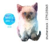 Vector Set Of Animals. Cat Hand ...