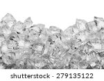 ice cubes isolated on white... | Shutterstock . vector #279135122