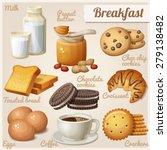 breakfast 3. set of cartoon... | Shutterstock .eps vector #279138482