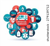 medical and health vector... | Shutterstock .eps vector #279139712