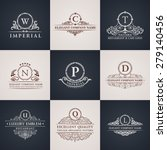 Luxury Logo Set. Calligraphic...
