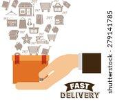 delivery design over white... | Shutterstock .eps vector #279141785