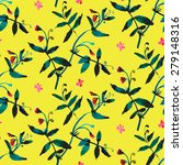 Vector Watercolor Pattern With...