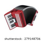 Accordian Isolated On White...