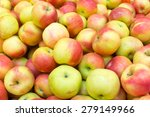 a lot of red and yellow apples... | Shutterstock . vector #279149966