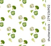 watercolor seamless pattern of... | Shutterstock .eps vector #279156902
