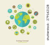 ecology network connection... | Shutterstock .eps vector #279162128