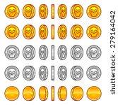 skull coins rotation animation... | Shutterstock .eps vector #279164042