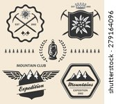 mountain hiking outdoor symbol... | Shutterstock .eps vector #279164096