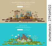 green eco city with sustainable ... | Shutterstock .eps vector #279164522