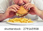 close up photo of man eating... | Shutterstock . vector #279165908