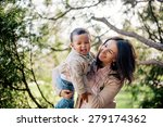 happy interracial family.... | Shutterstock . vector #279174362
