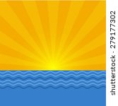 sea sunrise or sunset  graphic... | Shutterstock .eps vector #279177302