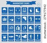 mandatory signs  construction... | Shutterstock .eps vector #279177542