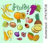 beautiful hand drawn... | Shutterstock .eps vector #279178718