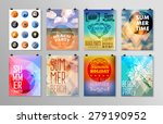 set of poster  flyer  brochure... | Shutterstock .eps vector #279190952