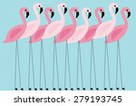 flamingo vector illustration | Shutterstock .eps vector #279193745