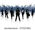 illustration of business people ... | Shutterstock .eps vector #27919381