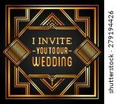 wedding invitation design ... | Shutterstock .eps vector #279194426