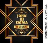 wedding invitation design ... | Shutterstock .eps vector #279194666