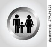 silver button design  vector... | Shutterstock .eps vector #279196826