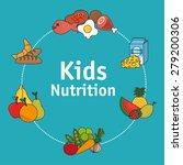 food design over blue... | Shutterstock .eps vector #279200306