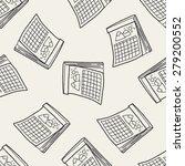 calendar doodle seamless...   Shutterstock . vector #279200552