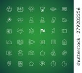 set of thin vector icons on the ... | Shutterstock .eps vector #279202256