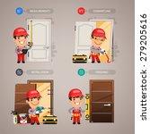 door installation step by step... | Shutterstock .eps vector #279205616