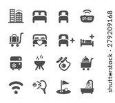 hotel service icon set 10 ... | Shutterstock .eps vector #279209168