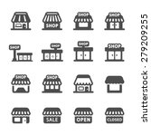 shop building icon set  vector... | Shutterstock .eps vector #279209255