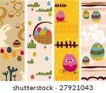 easter vertical banners   vector | Shutterstock .eps vector #27921043