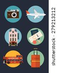 vector set of travel themed... | Shutterstock .eps vector #279213212