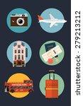 vector set of travel themed... | Shutterstock .eps vector #279213212