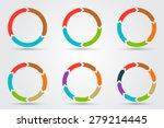 vector circle arrows for... | Shutterstock .eps vector #279214445