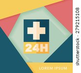 hospitals 24 hours flat icon... | Shutterstock .eps vector #279215108